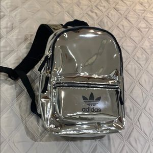 NEW silver adidas backpack!
